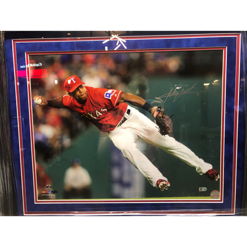 Photo of Adrian Beltre Throwing - Autographed 16x20 Photo