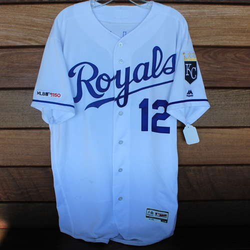 Photo of Game-Used Jersey: Jorge Soler 387th Career Hit (Size 44 - HOU @ KC - 9/14/19)