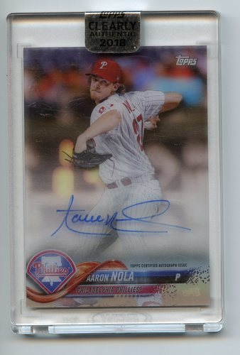 Photo of 2018 Topps Clearly Authentic Autographs #CAAAN Aaron Nola