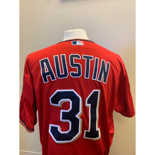 Photo of Minnesota Twins - 2019 Game-Used Spring Training Jersey - Tyler Austin