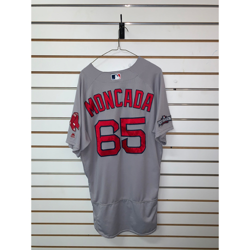 Photo of Yoan Moncada Game-Used September 28, 2016 Road Jersey