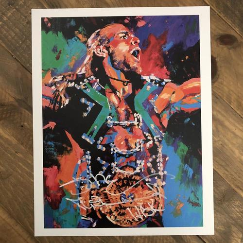 Photo of Shawn Michaels  SIGNED 11 x 14 Rob Schamberger Print