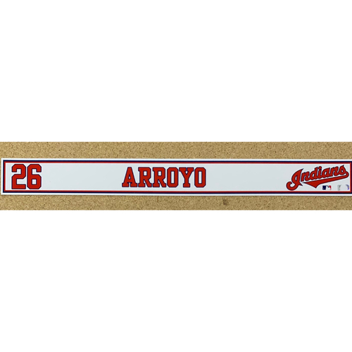 Photo of Christian Arroyo 2020 Spring Training Game-Used Locker Name Plate