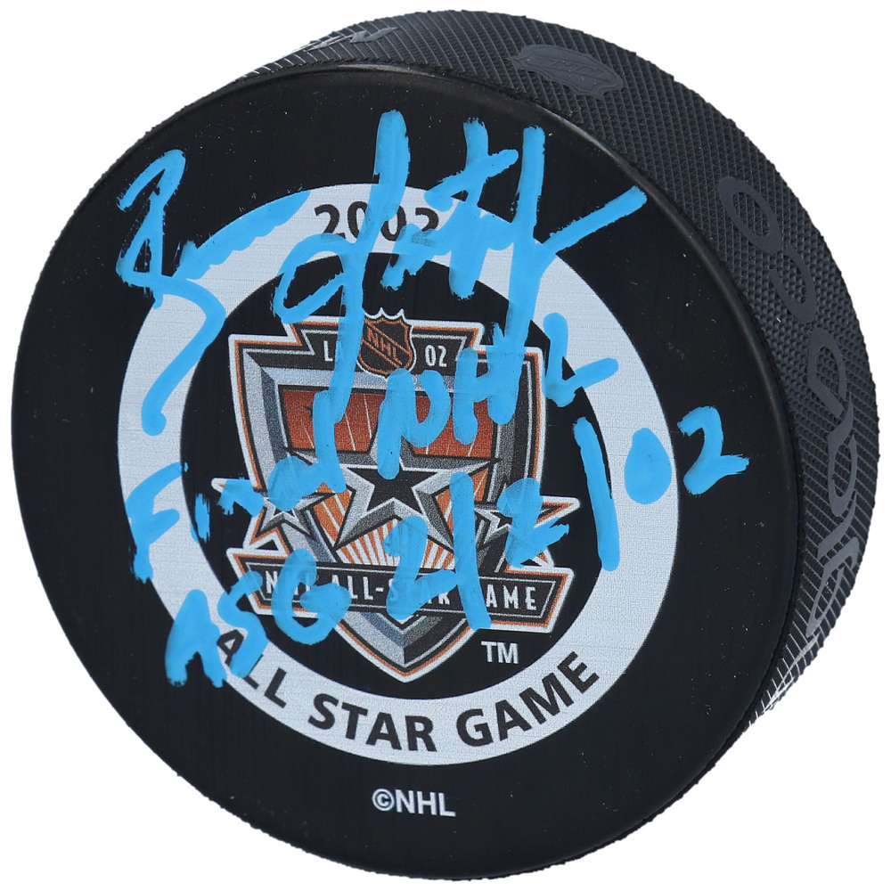 Brian Leetch New York Rangers Autographed 2002 NHL All-Star Game Official Game Puck with