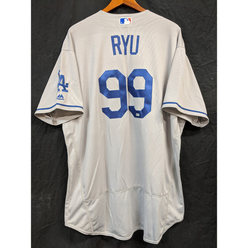 Photo of Hyun-Jin Ryu Team-Issued 2016 Road Jersey