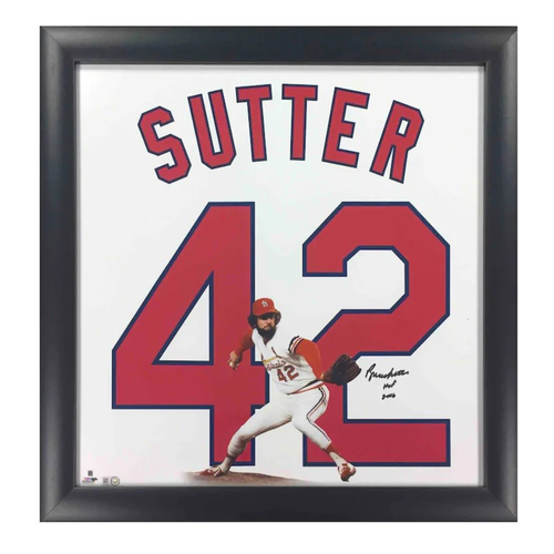 Photo of Cardinals Authentics: Bruce Sutter Autographed & Inscribed Photo - Cardinals Retired Numbers Collection