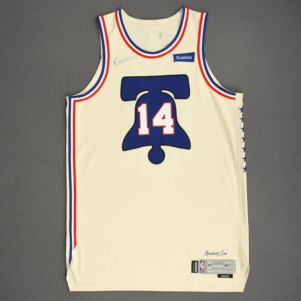 Image of Danny Green - Philadelphia 76ers - Game-Worn Earned Edition Jersey - 2020-21 NBA Season