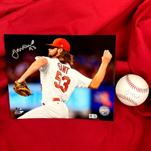 Photo of John Gant Autographed Baseball and Photo