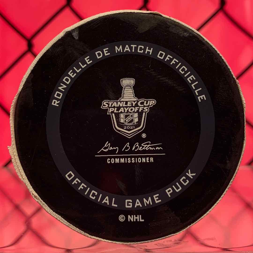 Tyler Toffoli Game 7 Goal Puck (A: Staal/Danault)