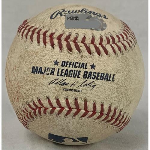 Photo of Jose Altuve 2014 Game-Used Baseball: Pitcher: Taijuan Walker, Batter: Jose Altuve - Single - Bottom 5 - 9/19/14