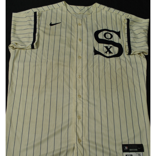 2021 New York Yankees vs. Chicago White Sox in Dyersville, Iowa - Game-Used 1919 Throwback Jersey - Lance Lynn (Worn 1-3 Innings) - Size 52 + 1B + 1S