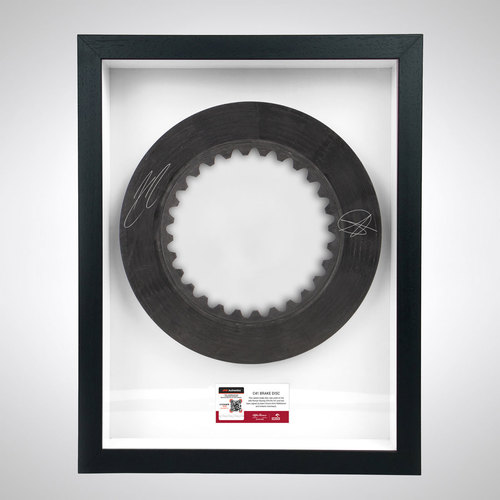 Photo of Brake Disc Signed By Kimi Räikkönen & Antonio Giovinazzi