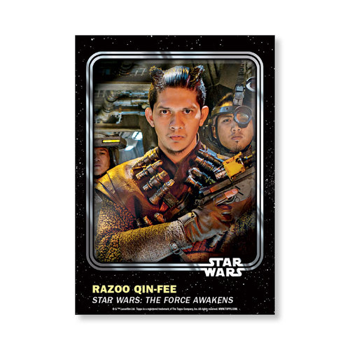 Razoo Qin-Fee 2016 Star Wars Card Trader Base Poster - # to 99