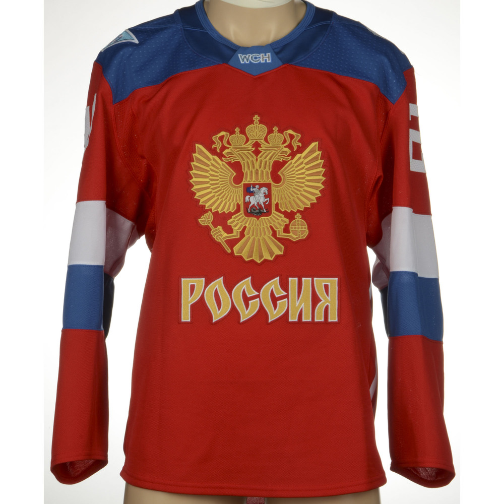 Artemi Panarin Chicago Blackhawks Game-Worn 2016 World Cup of Hockey Team  Russia Jersey 804830fe8