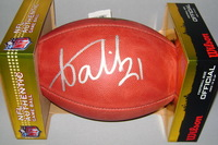 NFL - BRONCOS AQIB TALIB SIGNED AUTHENTIC FOOTBALL