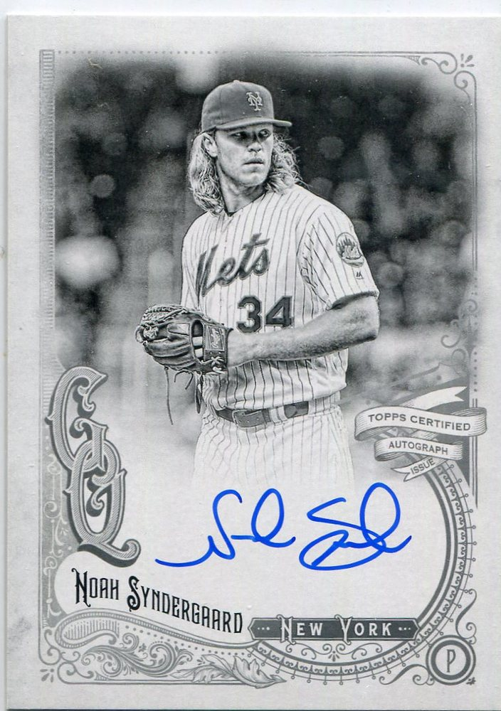 2017 Topps Gypsy Queen Autographs Black and White Noah Syndergaard 91/99