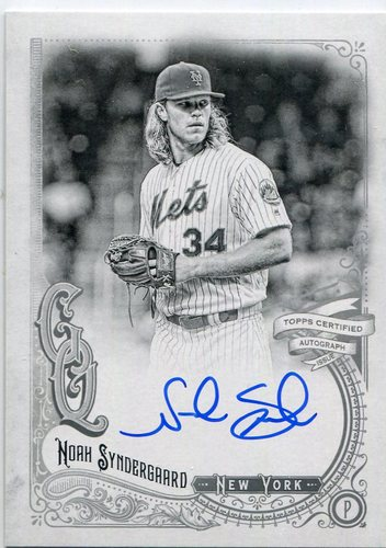 Photo of 2017 Topps Gypsy Queen Autographs Black and White Noah Syndergaard 91/99