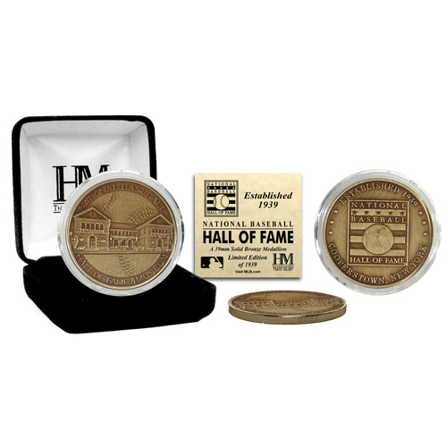 Photo of National Baseball Hall of Fame Bronze Commemorative Coin