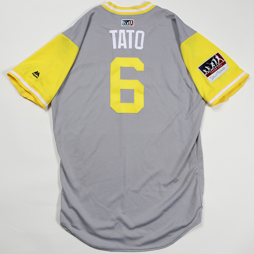 "Photo of Starling ""Tato"" Marte Pittsburgh Pirates Game-Used Jersey 2018 Players' Weekend Jersey"