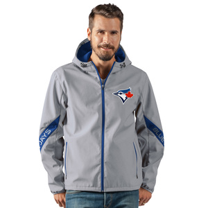 TORONTO BLUE JAYS XOVER TRANSITIONAL HOODED SOFT SHELL-GR/NVY