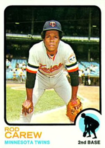 Photo of 1973 Topps #330 Rod Carew -- Hall of Famer