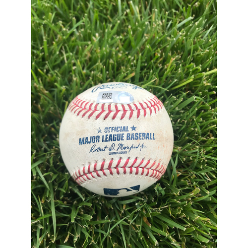 Photo of Cardinals Authentics: Game Used Baseball Pitched by Jordan Yamamoto to Kolten Wong and Harrison Bader *Wong Strikeout, Bader Foul Ball*