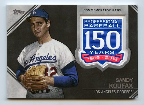 Photo of 2019 Topps 150th Anniversary Manufactured Patches #AMPSK Sandy Koufax S2