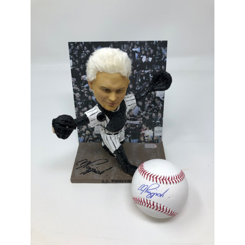 Photo of AJ Pierzynski Autographed Bobblehead and Baseball