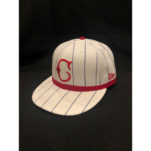 Photo of Eugenio Suarez -- Game-Used Cap -- 1919 Throwback Game -- Nationals vs. Reds on June 2, 2019 -- Size 7 1/4