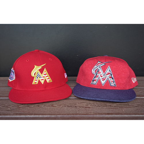 Photo of Game-Used Cap: Don Mattingly 2018 & 2017 Stars & Stripes Caps - 2018:  Size 7 3/8 2017: Size 7 1/4
