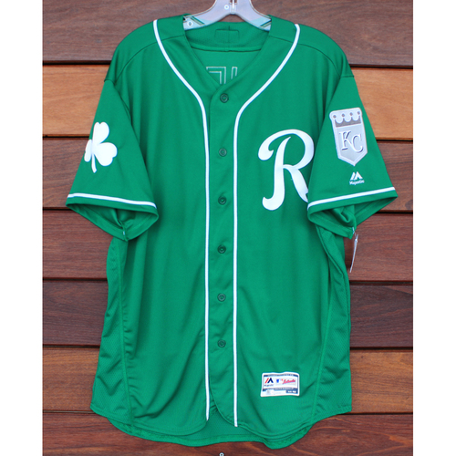 Photo of Game-Used St. Patrick's Day Jersey: Pedro Grifol (Size 48 - 3/17/19 - KC @ SF)
