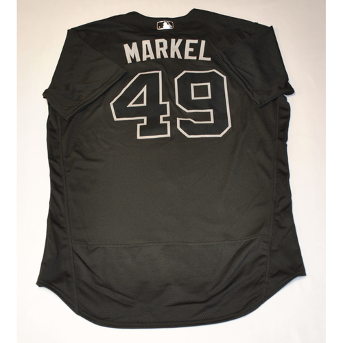 "Photo of Parker ""MARKEL"" Markel Pittsburgh Pirates Game-Used 2019 Players' Weekend Jersey"