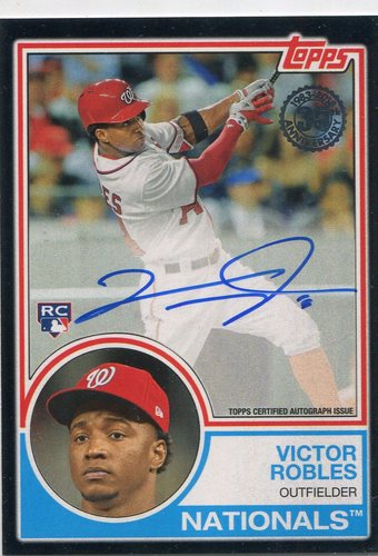 Photo of 2018 Topps '83 Topps Autographs Black #83AVR Victor Robles 05/99 S2