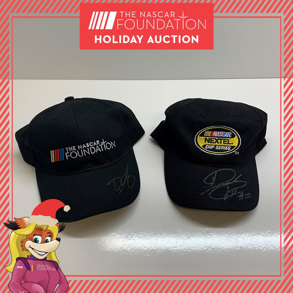NASCAR drivers autographed hats!