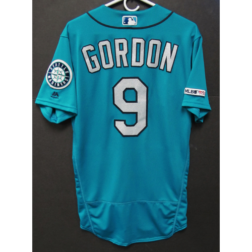 Photo of Dee Gordon Game-Used Green  Jersey - 9-27-2019 - Size 40