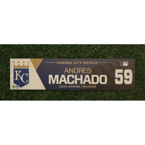 Photo of Game-Used Spring Training Locker Tag: Andres Machado #59