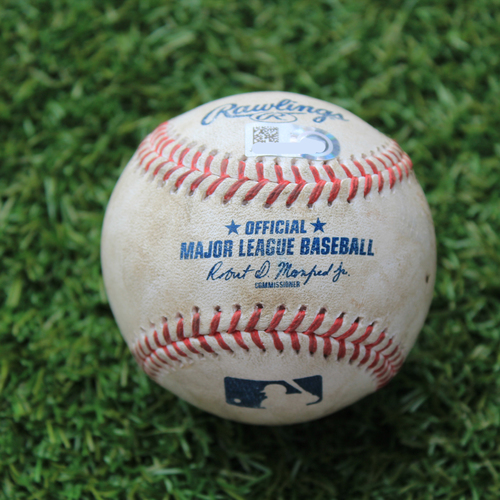 Photo of Game-Used Baseball: Jose Abreu 221st Career Double & Yasmani Grandal 677th Career Hit (CWS @ KC 8/2/20)