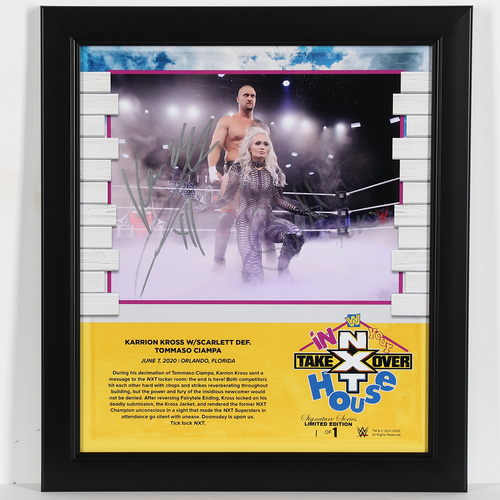 Karrion Kross and Scarlett SIGNED In Your House 2020 Signature Series Frame (#1 of 1)