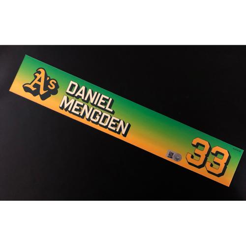 Photo of Team Issued 2020 Season Locker Nameplate - Daniel Mengden