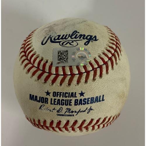 Photo of Game-Used Baseball - 8/23/2020 - Beau Taylor Foul Ball off Daniel Norris