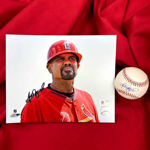 Photo of José Oquendo Autographed Baseball and Photo
