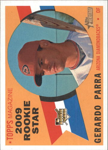 Photo of 2009 Topps Heritage #578 Gerardo Parra RC