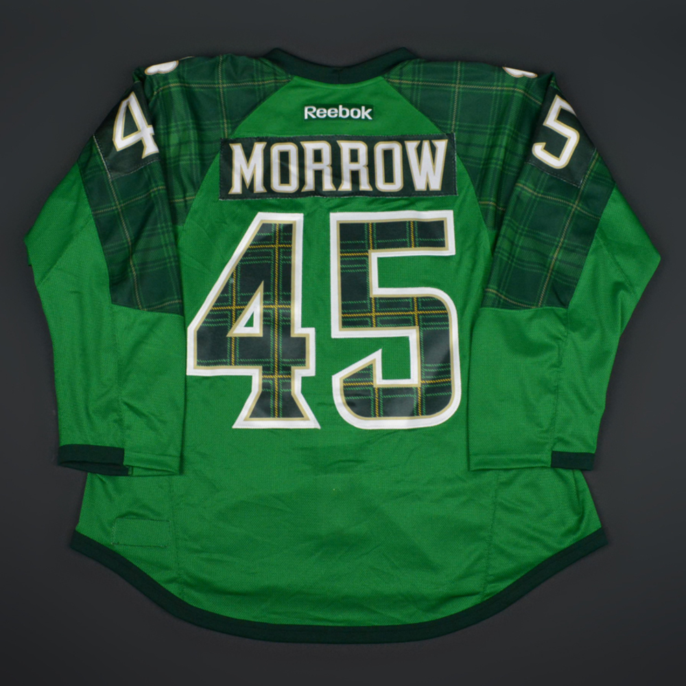 competitive price ff25a 4e3c8 Joe Morrow - Boston Bruins - St. Patricks's Day Warmup-Worn ...