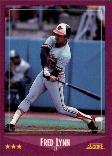 Photo of 1988 Score Glossy #42 Fred Lynn