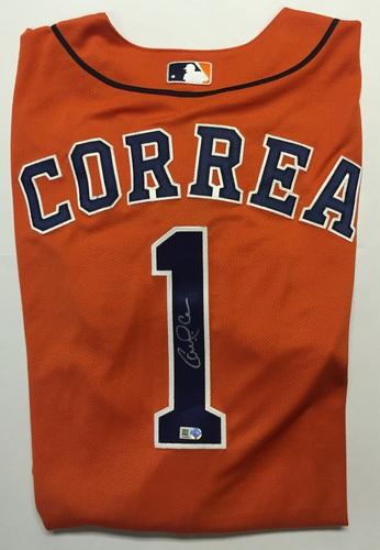 Carlos Correa Autographed Authentic Asros Jersey - Orange