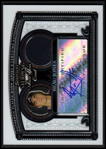 Photo of 2005 Bowman Sterling #BJ Beau Jones AUTO RC Rookie Autographed Jersey relic Card