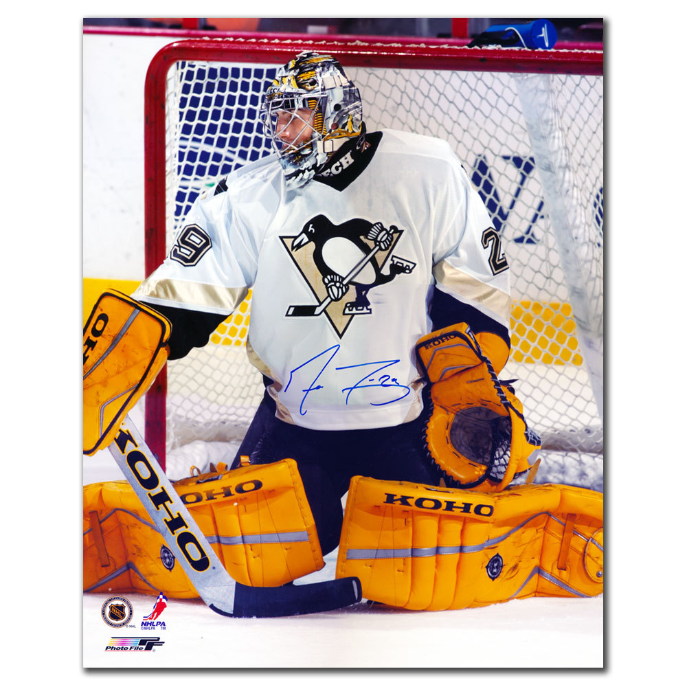 Marc Andre Fleury Pittsburgh Penguins BUTTERFLY SAVE Autographed 16x20