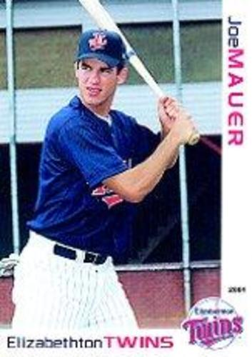 Photo of 2001 Elizabethton Twins Grandstand #18 Joe Mauer