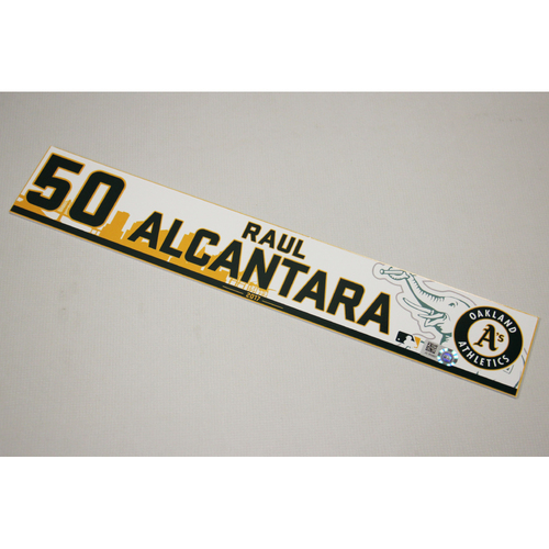 Raul Alcantara 2017 Home Clubhouse Locker Nameplate