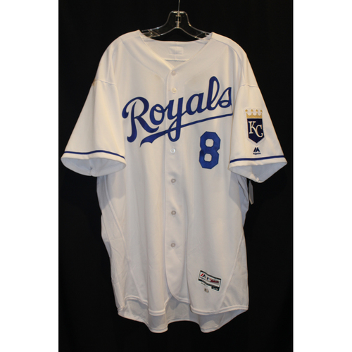 Game-Used Jersey: Mike Moustakas (Size 52 - SEA at KC - 8/6/17 - Game 2)
